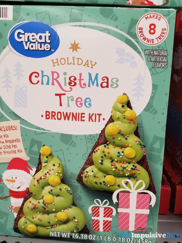 Great Value Holiday Christmas Tree Brownie Kit