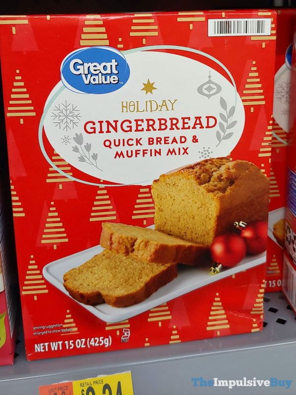 Great Value Holiday Gingerbread Quick Bread  Muffin Mix