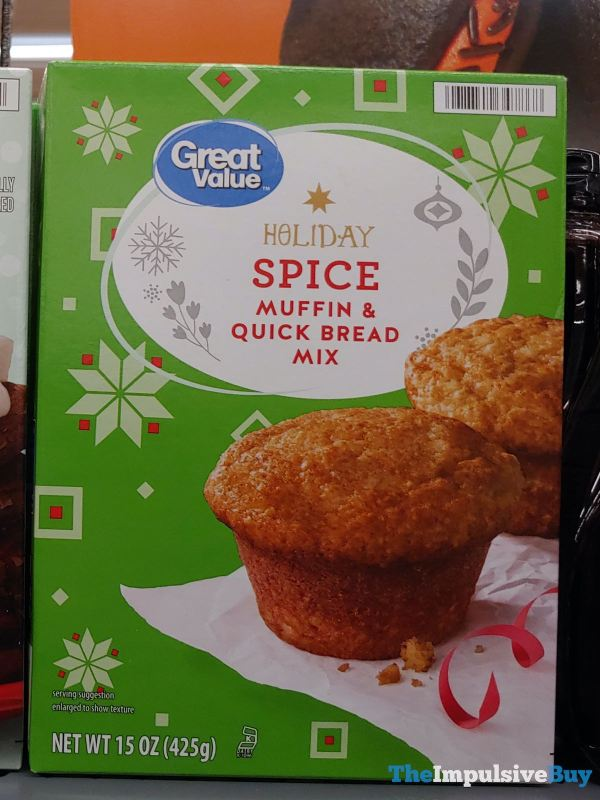 Great Value Holiday Spice Muffin  Quick Bread Mix