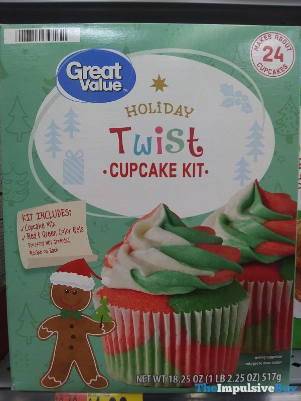 Great Value Holiday Twist Cupcake Kit