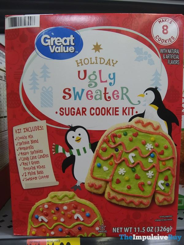 Great Value Holiday Ugly Sweater Sugar Cookie Kit