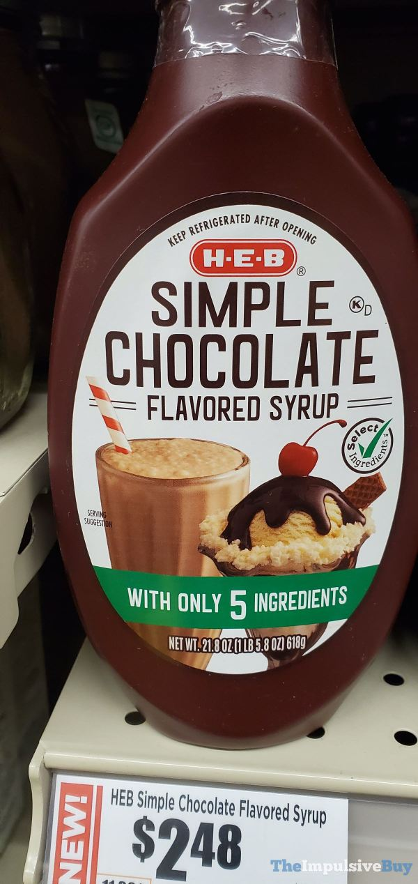 H E B Simple Chocolate Flavored Syrup
