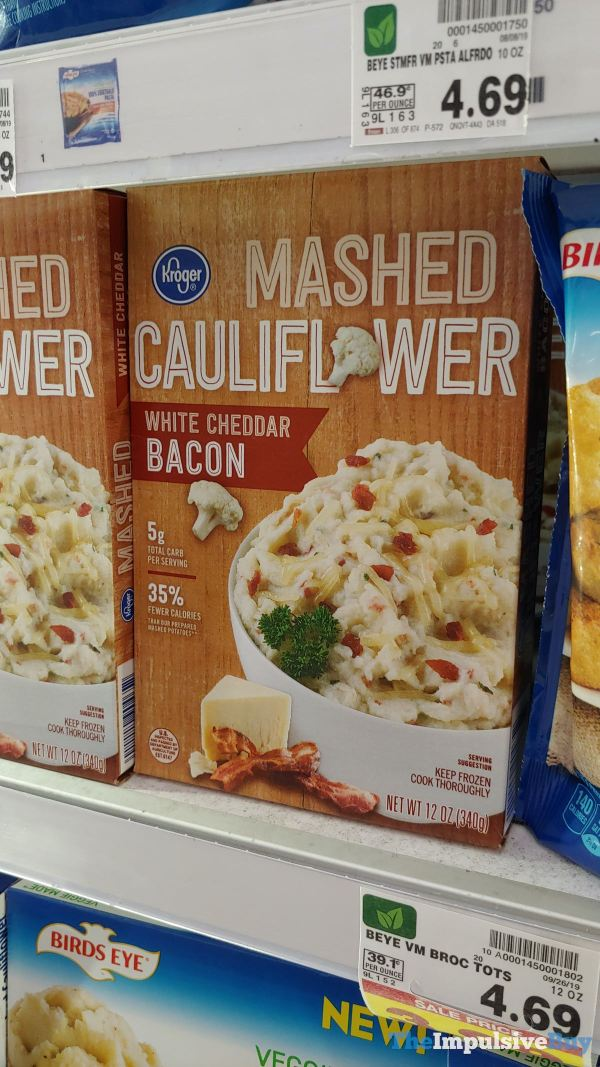 Kroger White Cheddar Bacon Mashed Cauliflower