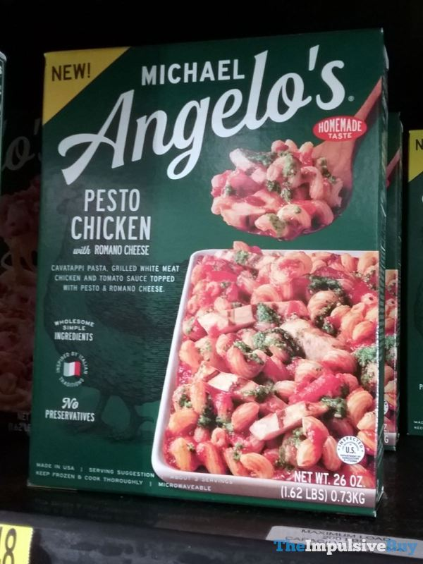 Michael Angelo s Pesto Chicken with Romano Cheese