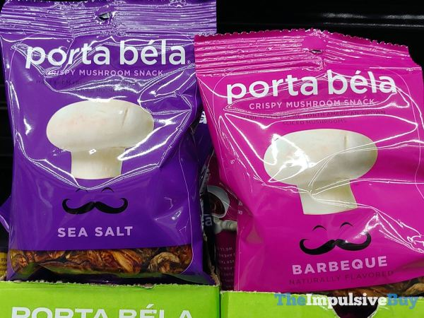 Porta Bela Crispy Mushroom Snack  Sea Salt and Barbeque