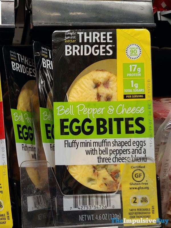 Three Bridges Bell Pepper  Cheese Egg Bites
