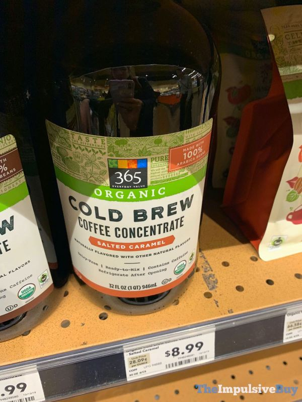 365 Everyday Value Organic Salted Caramel Cold Brew Coffee Concentrate
