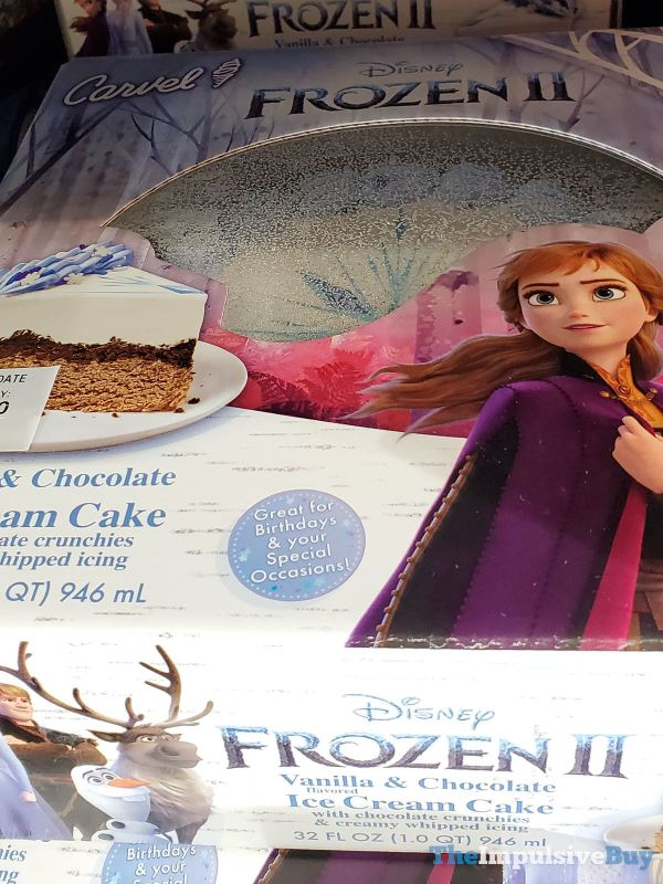 Carvel Disney Frozen II Vanilla  Chocolate Ice Cream Cake