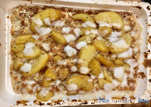 Great Value Cinnamon Apple Dessert Pizza Baked