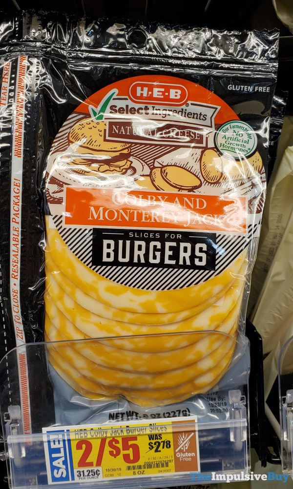 H E B Colby and Monterey Jack Slices for Burgers