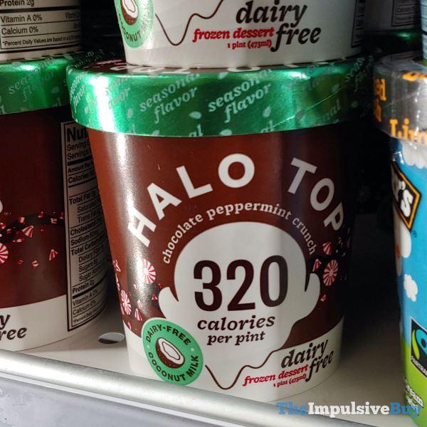 Halo Top Chocolate Peppermint Crunch Dairy Free Frozen Dessert