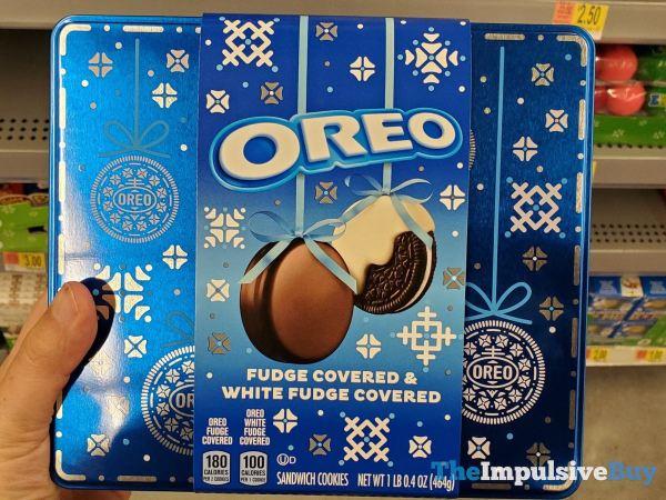 Oreo Fudge Covered  White Fudge Covered Gift Tin