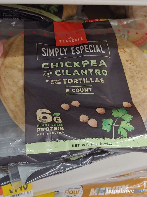 Teasdale Simply Especial Chickpea and Cilantro Tortillas