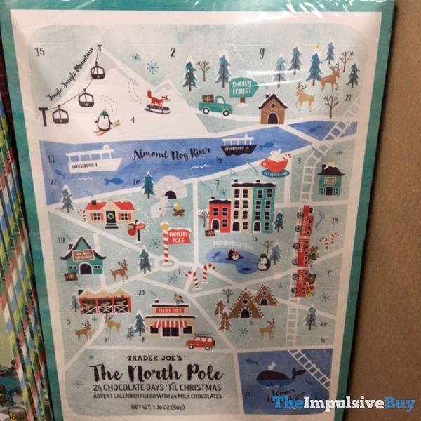 Trader Joe s The North Pole 24 Chocolate Day s  Til Christmas Advent Calendar 2019
