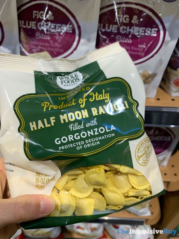 Whole Foods Half Moon Ravioli filled with Gorgonzola