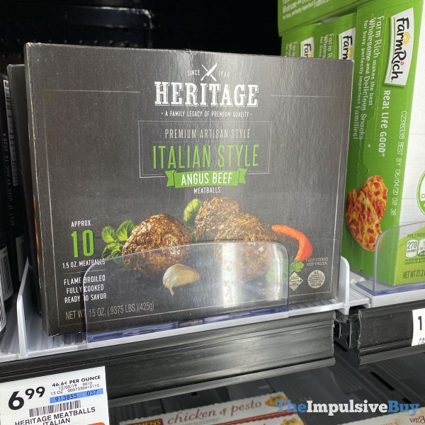 Heritage Italian Style Angus Beef Meatballs