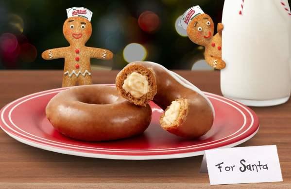 News Krispy Kreme Gingerbread Glazed Doughnuts