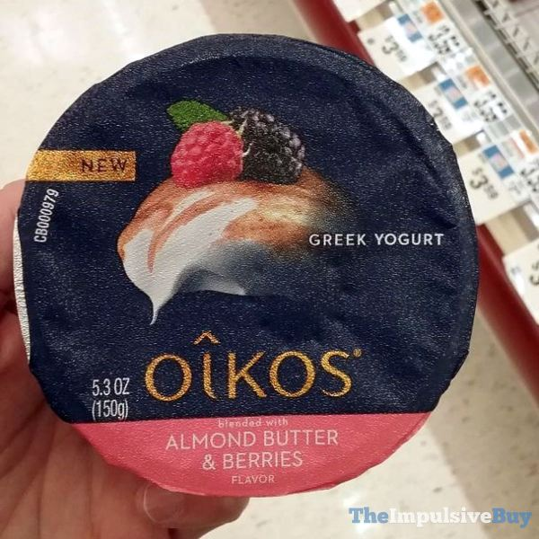 Oikos Blended with Almond Butter  Berries Greek Yogurt