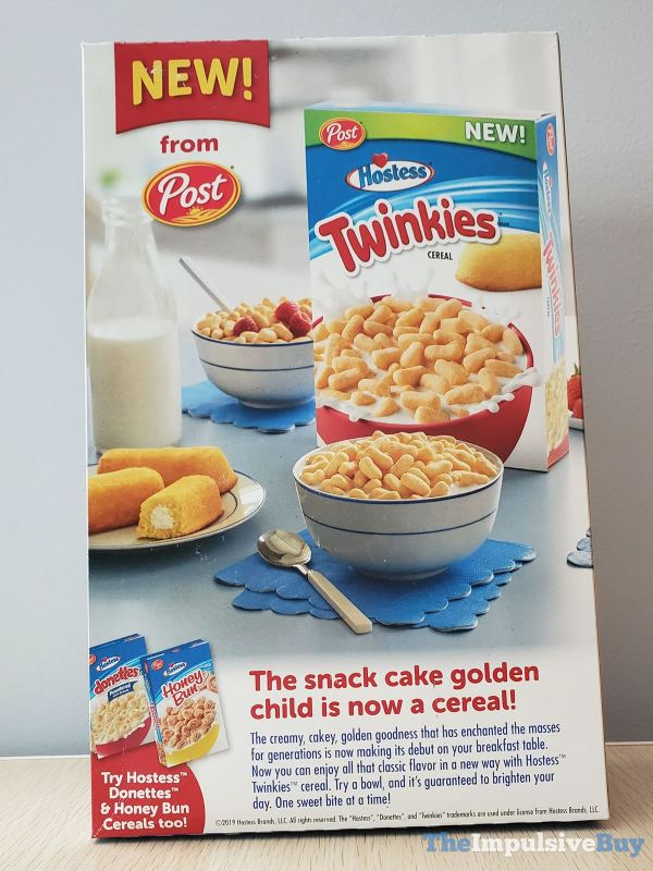 Post Hostess Twinkies Cereal Back of Box