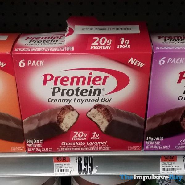 Premier Protein Chocolate Caramel Creamy Layered Bar