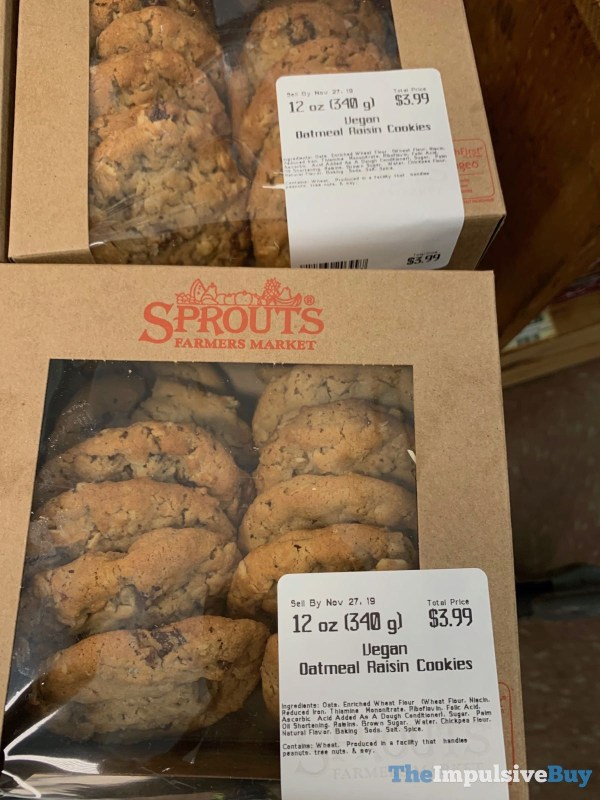 Sprouts Vegan Oatmeal Raisin Cookies