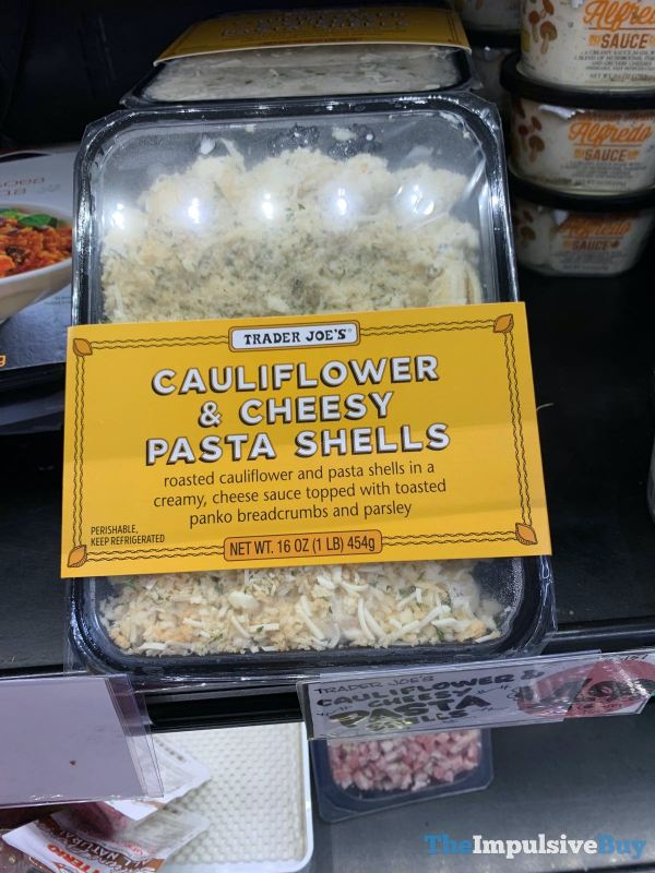Trader Joe s Cauliflower  Cheesy Pasta Shells