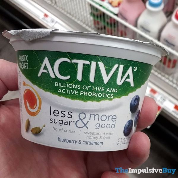 Activia Less Sugar  More Good Blueberry  Cardamom Probiotic Yogurt