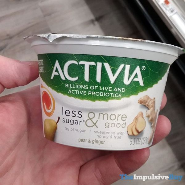 Activia Less Sugar  More Good Pear  Ginger Probiotic Yogurt