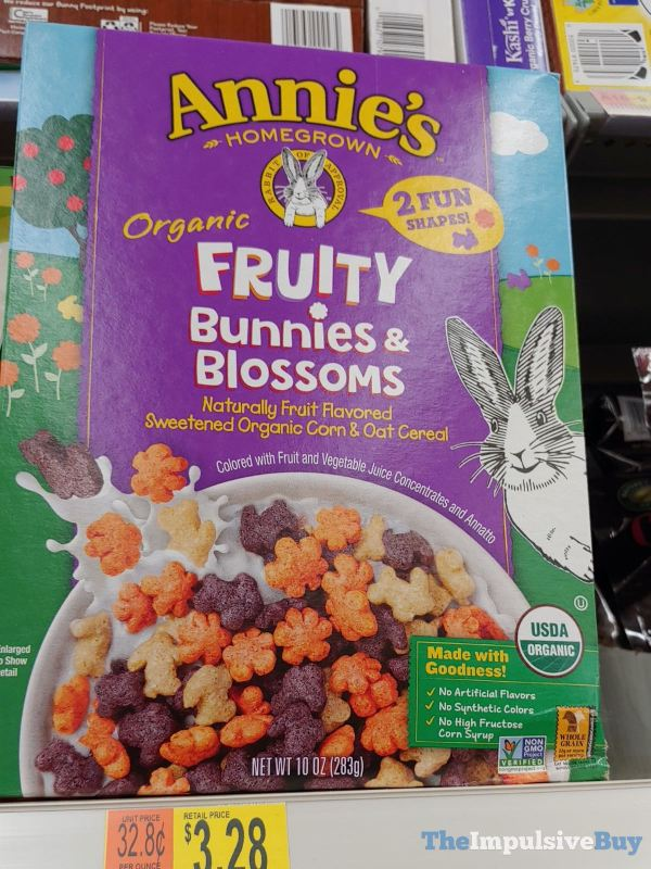 Annie s Organic Fruity Bunnies  Blossoms Cereal