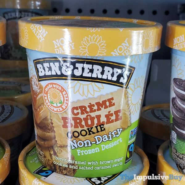 Ben  Jerry s Creme Brulee Cookie Non Dairy Frozen Dessert made with Sunflower Butter