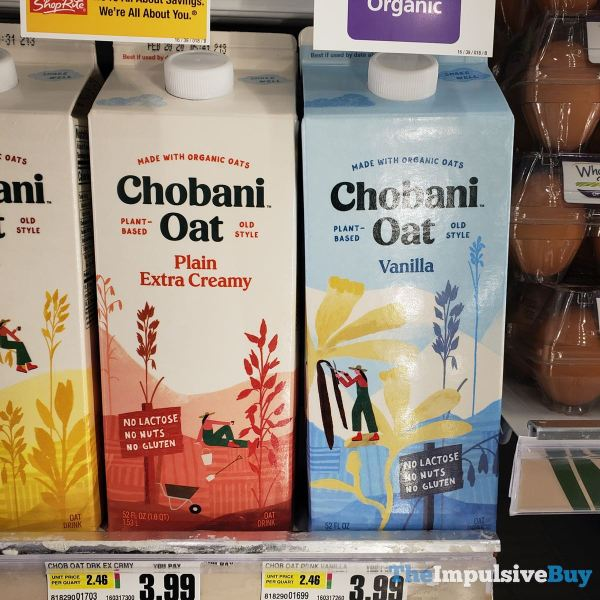 Chobani Oat Drink  Plain Extra Creamy and Vanilla