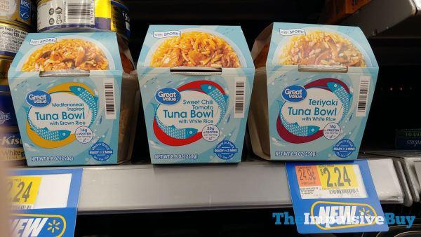 Great Value Tuna Bowls with Rice  Mediterranean Sweet Chili Tomato and Teriyaki