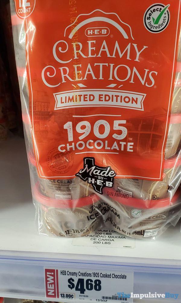 H E B Creamy Creations Limited Edition 1905 Chocolate Ice Cream Cups