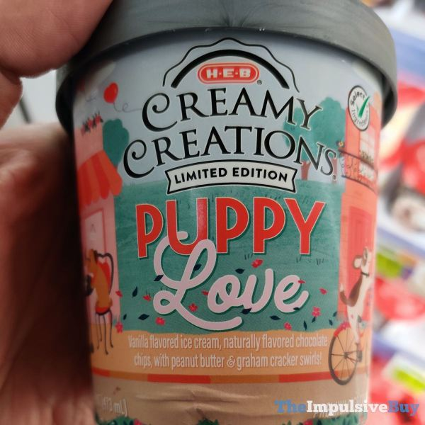 H E B Creamy Creations Limited Edition Puppy Love Ice Cream