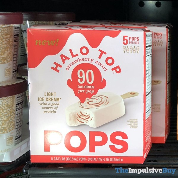 Halo Top Strawberry Swirl Pops