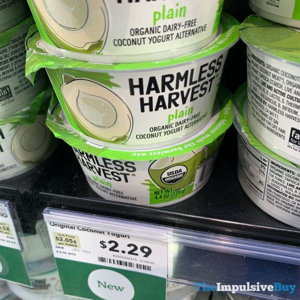 Harmless Harvest Plain Coconut Yogurt Alternative