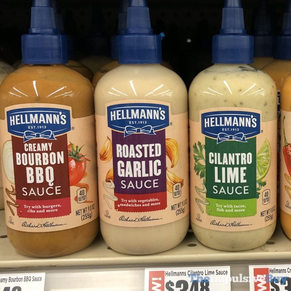 Hellmann s Creamy Bourbon BBQ Sauce Roasted Garlic Sauce and Cilantro Lime Sauce