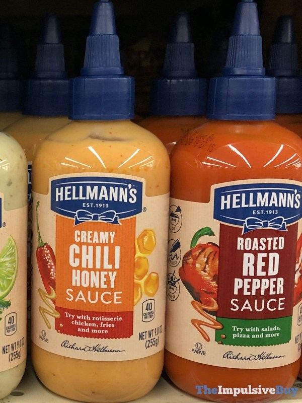 Hellmann s Creamy Chili Honey Sauce and Roasted Red Pepper Sauce