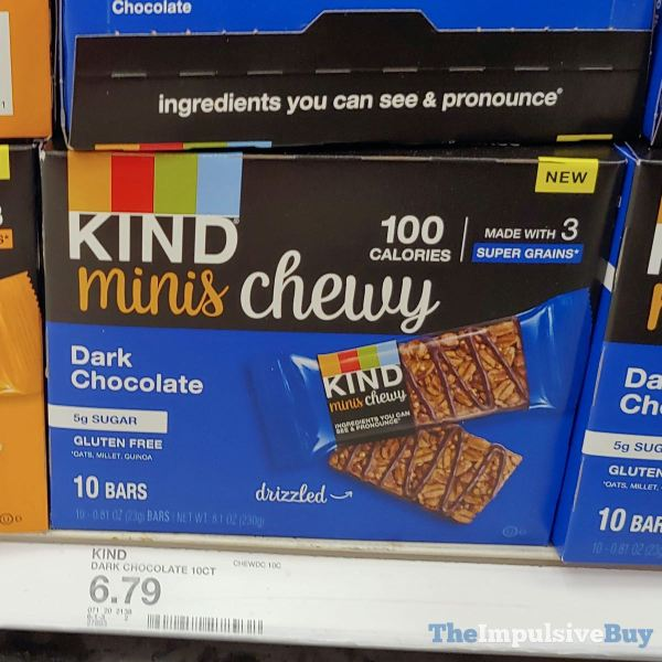 Kind Minis Chewy Dark Chocolate