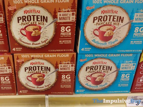 Krusteaz Protein Pancake Mix Pouches  Cinnamon Brown Sugar and Buttermilk Maple