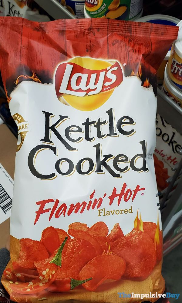 Lay s Kettle Cooked Flamin Hot Potato Chips