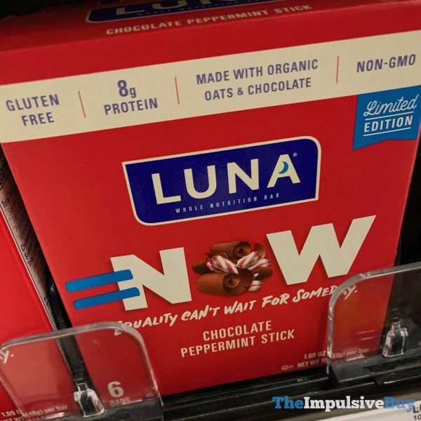 Luna Limited Edition Equality Now Chocolate Peppermint Stick bars