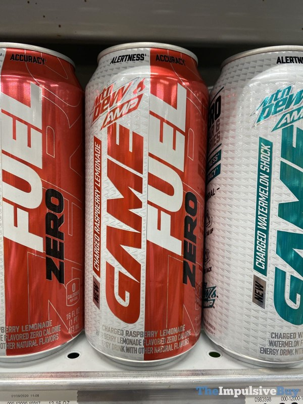Mtn Dew Amp Game Fuel Zero Charged Raspberry Lemonade