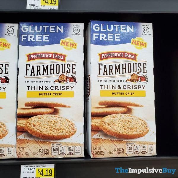 Pepperidge Farm Farmhouse Gluten Free Butter Crisp Thin  Crispy Cookies
