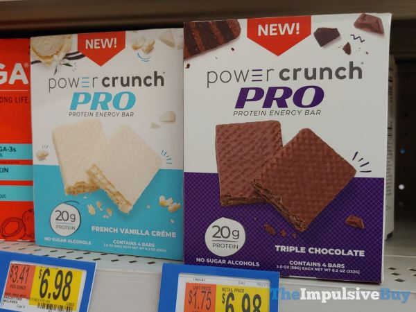 Power Crunch Pro Protein Energy Bar  French Vanilla Creme and Triple Chocolate