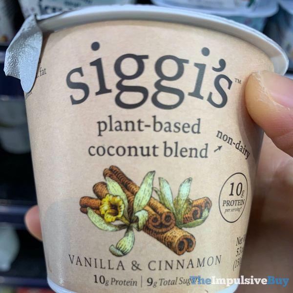 Siggi s Plant Based Coconut Blend Vanilla  Cinnamon Yogurt