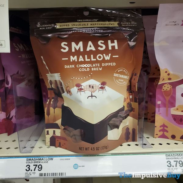 Smashmallow Dark Chocolate Dipped Cold Brew Snackable Marshmallows