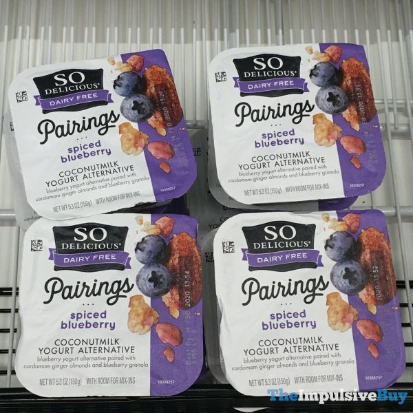 So Delicious Pairings Spiced Blueberry Coconutmilk Yogurt Alternative