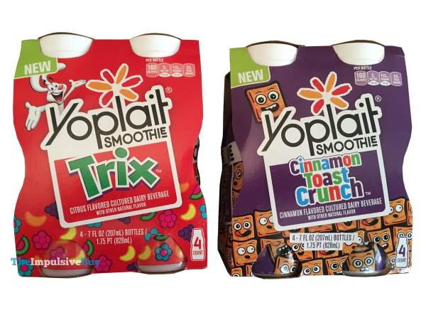 Yoplait Cinnamon Toast Crunch and Trix Smoothies