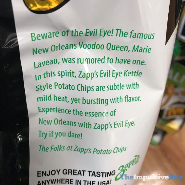 Zapp s New Orleans Kettle Style Evil Eye Potato Chips Description
